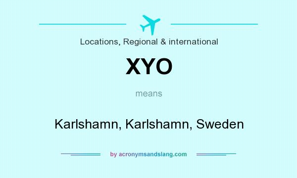 What does XYO mean? It stands for Karlshamn, Karlshamn, Sweden