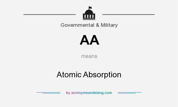 What does AA mean? It stands for Atomic Absorption