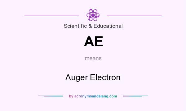 What does AE mean? It stands for Auger Electron