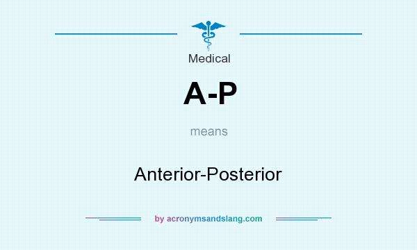 What does A-P mean? It stands for Anterior-Posterior