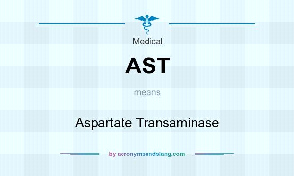 What does AST mean? It stands for Aspartate Transaminase