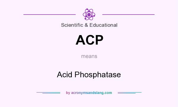 What does ACP mean? It stands for Acid Phosphatase