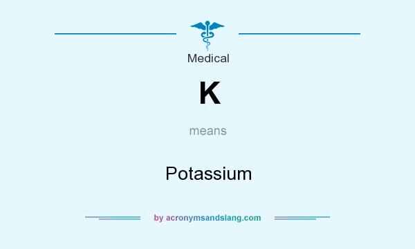 What does K mean? It stands for Potassium
