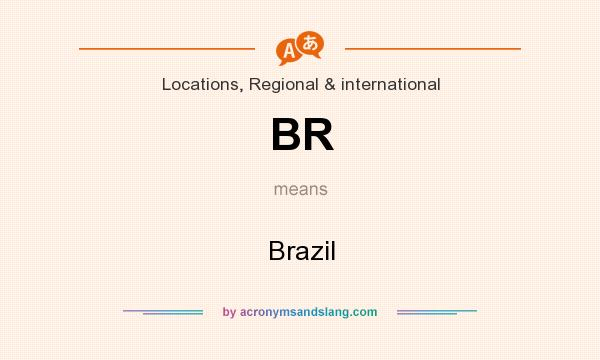 What does BR mean? It stands for Brazil