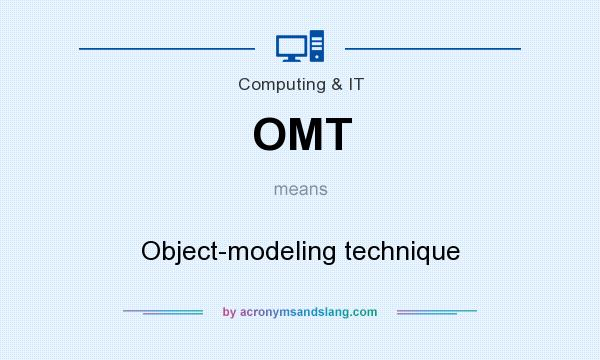 What does OMT mean? It stands for Object-modeling technique