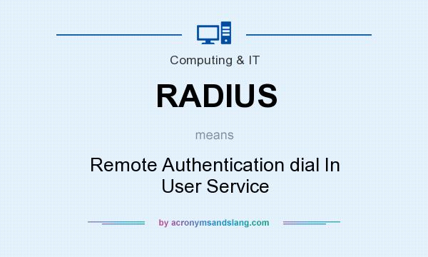 What does RADIUS mean? It stands for Remote Authentication dial In User Service