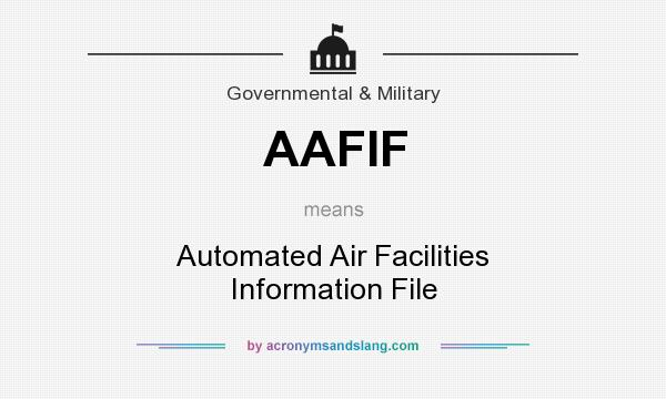 What does AAFIF mean? It stands for Automated Air Facilities Information File