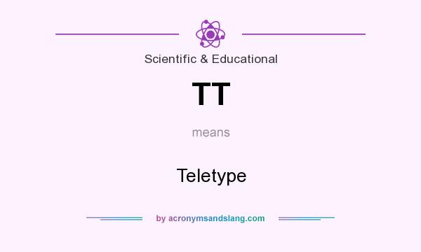 What does TT mean? It stands for Teletype