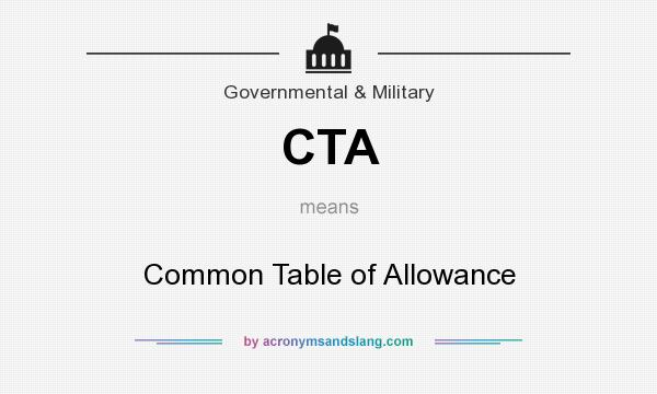 Cta common table of allowance in government military by - What is the meaning of commode ...