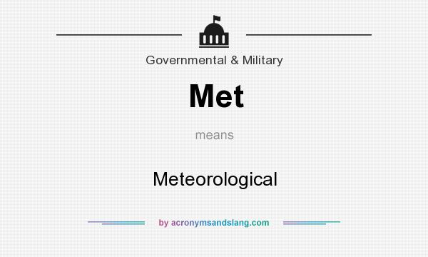 What does Met mean? It stands for Meteorological