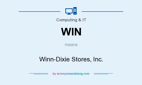 What does WIN mean? It stands for Winn-Dixie Stores, Inc.