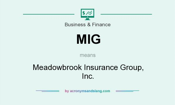What does MIG mean? It stands for Meadowbrook Insurance Group, Inc.