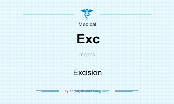 What does Exc mean? It stands for Excision
