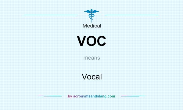 What does VOC mean? It stands for Vocal