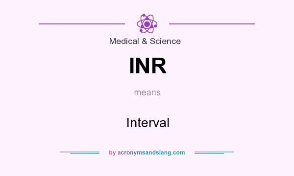 What does INR mean? It stands for Interval