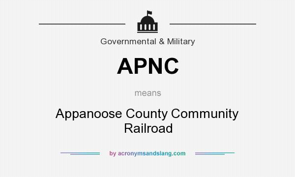 What does APNC mean? It stands for Appanoose County Community Railroad