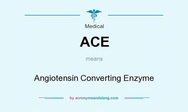 What does ACE mean? It stands for Angiotensin Converting Enzyme