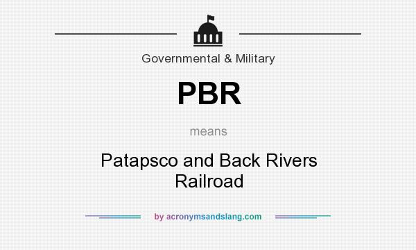 What does PBR mean? It stands for Patapsco and Back Rivers Railroad