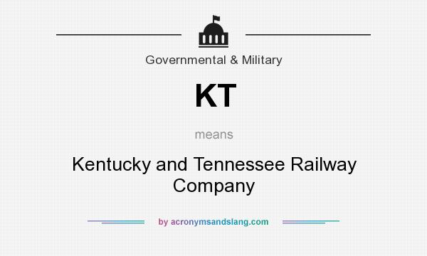 What does KT mean? It stands for Kentucky and Tennessee Railway Company