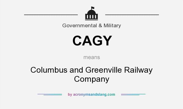 What does CAGY mean? It stands for Columbus and Greenville Railway Company