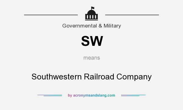 What does SW mean? It stands for Southwestern Railroad Company