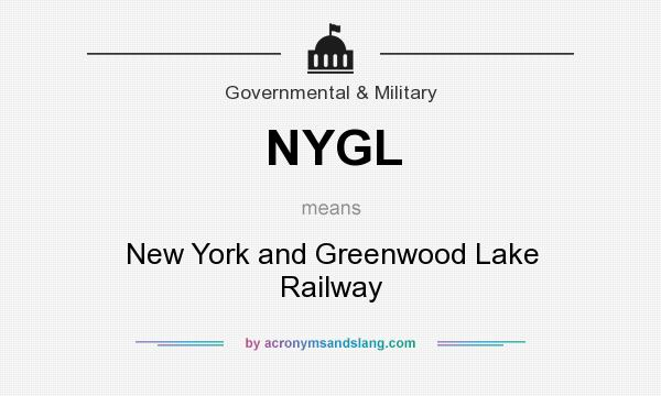 What does NYGL mean? It stands for New York and Greenwood Lake Railway