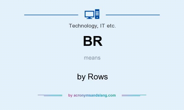 What does BR mean? It stands for by Rows