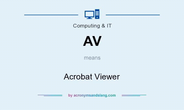What does AV mean? It stands for Acrobat Viewer