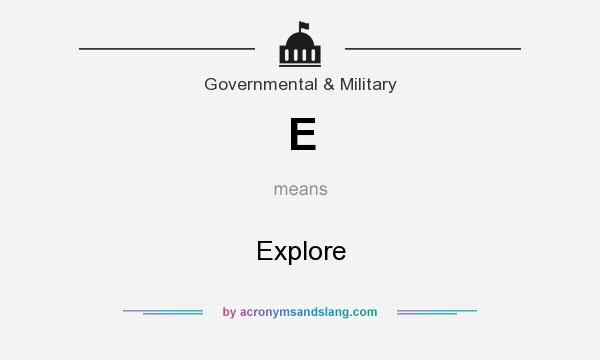 What does E mean? It stands for Explore