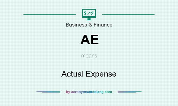 What does AE mean? It stands for Actual Expense