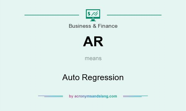 What does AR mean? It stands for Auto Regression