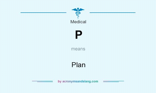 What does P mean? It stands for Plan