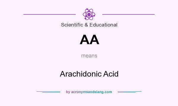 What does AA mean? It stands for Arachidonic Acid
