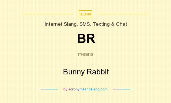 What does BR mean? It stands for Bunny Rabbit