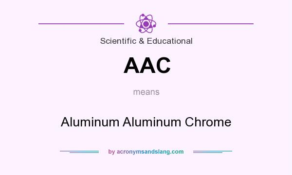 What does AAC mean? It stands for Aluminum Aluminum Chrome