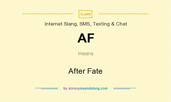What does AF mean? It stands for After Fate
