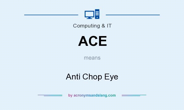 What does ACE mean? It stands for Anti Chop Eye