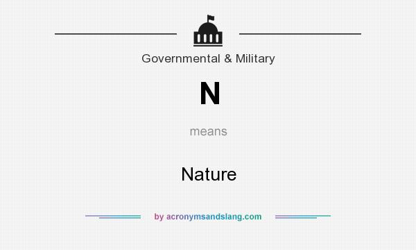 What does N mean? It stands for Nature