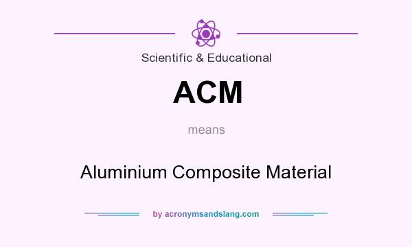 What does ACM mean? It stands for Aluminium Composite Material