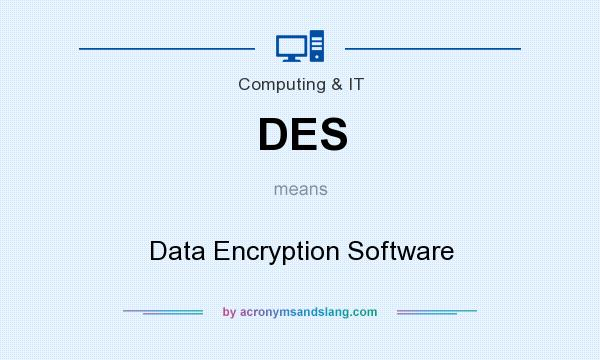 What does DES mean? It stands for Data Encryption Software