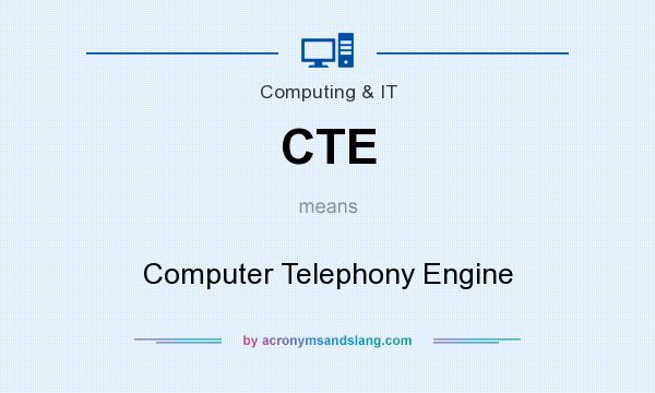 What does CTE mean? It stands for Computer Telephony Engine