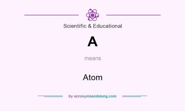 What does A mean? It stands for Atom