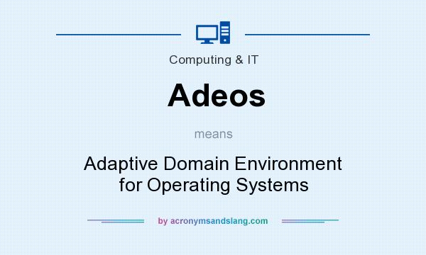 What does Adeos mean? It stands for Adaptive Domain Environment for Operating Systems