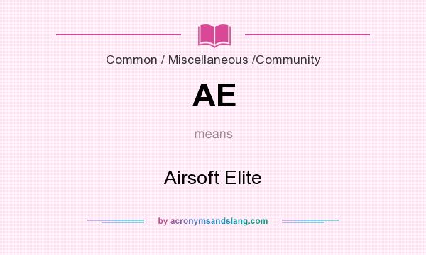 What does AE mean? It stands for Airsoft Elite