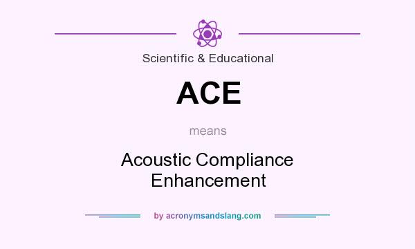 What does ACE mean? It stands for Acoustic Compliance Enhancement