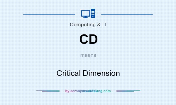 What does CD mean? It stands for Critical Dimension