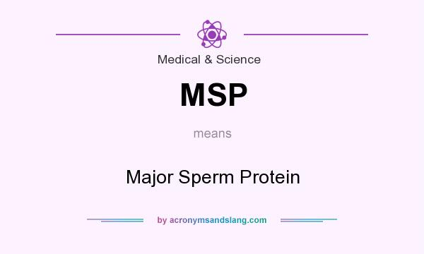 What does MSP mean? It stands for Major Sperm Protein