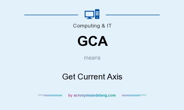 What does GCA mean? It stands for Get Current Axis