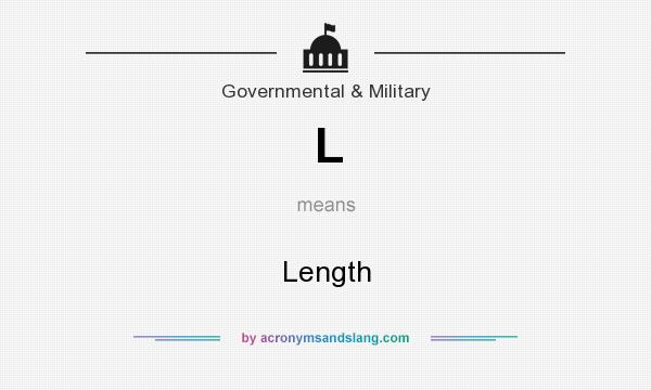 What does L mean? It stands for Length