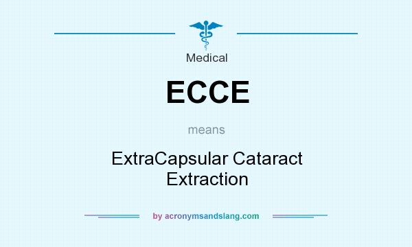What does ECCE mean? It stands for ExtraCapsular Cataract Extraction